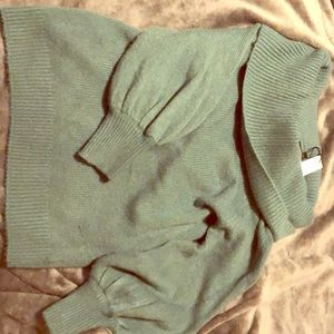 Express size small turtle neck sweater-Teal Blue
